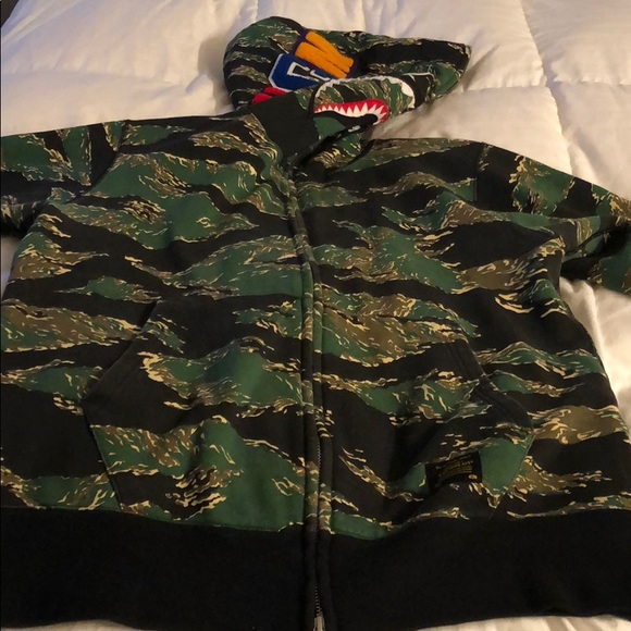 11167454532b Bape Other - Men s shark head Bathing ape hoodie